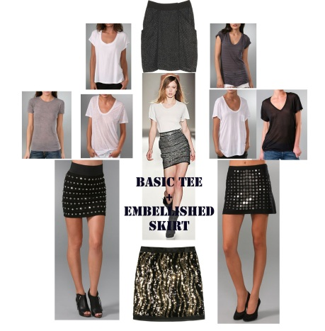 EMB SKIRT AND TEE TREND