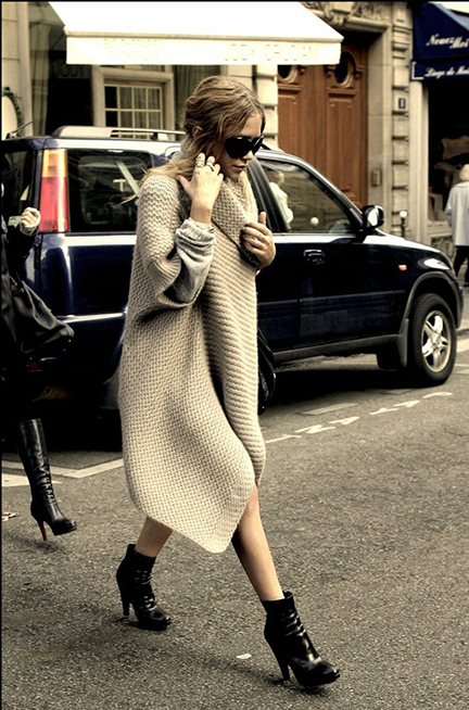 Wintery Mix: Sweater Blanket Coat