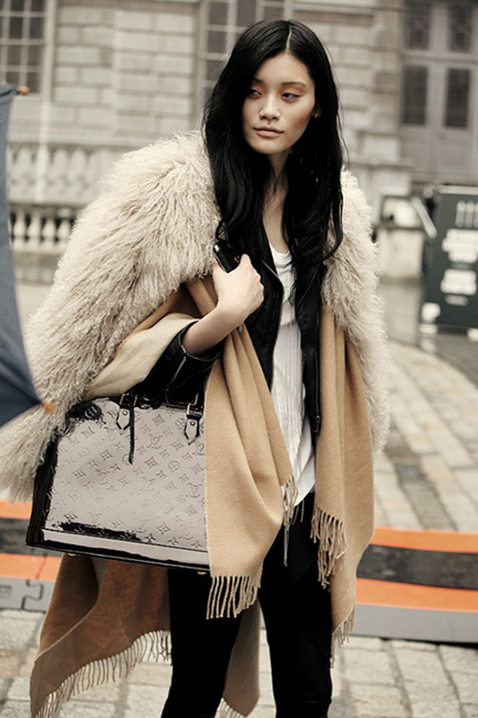 Wintery Mix:  Cream, camel and black