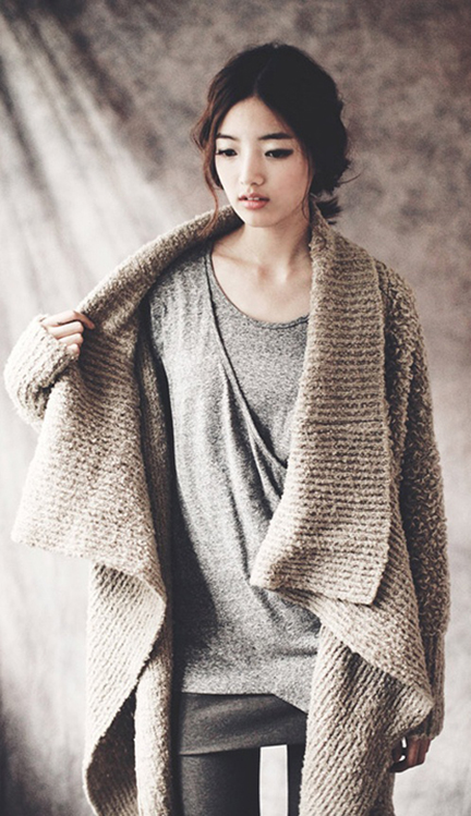 Wintery Mix: Layers of knits