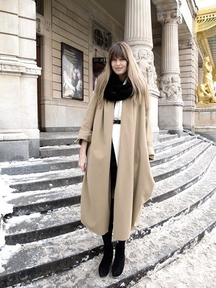 Wintery Mix: Oversized Camel Coat