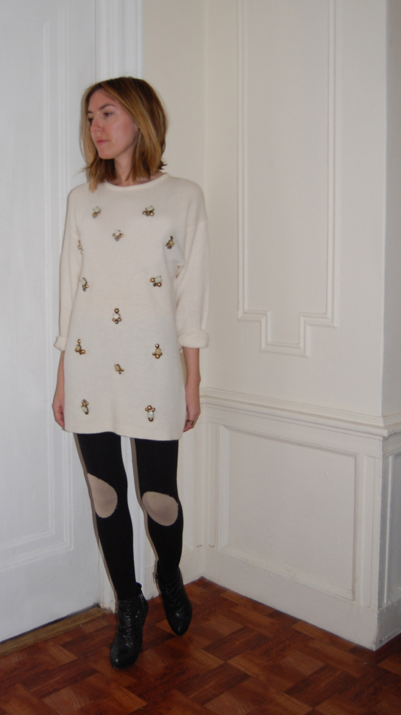 EMBELLISHED SWEATER DIY | DeSmitten Design Blog