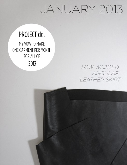 Christina DeSmet Angular Leather Skirt Design - Project de